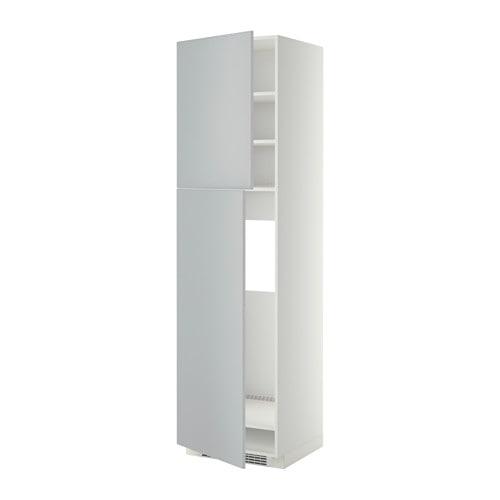 metod hs f k hlschr m 2 t ren wei veddinge grau 60x60x220 cm ikea. Black Bedroom Furniture Sets. Home Design Ideas