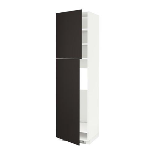 metod hs f k hlschr m 2 t ren wei kungsbacka anthrazit 60x60x220 cm ikea. Black Bedroom Furniture Sets. Home Design Ideas