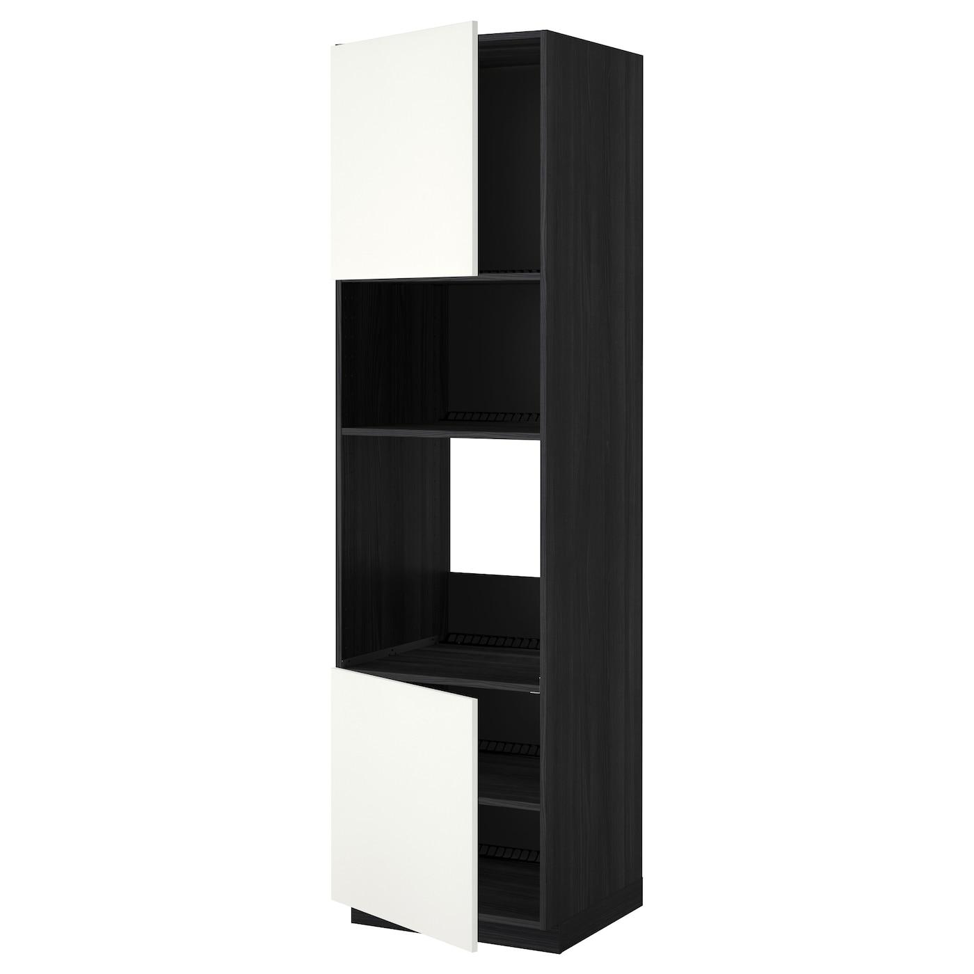 METOD, HS für Ofen/Mikro m 2 Türen/Böden, schwarz 990.279.20