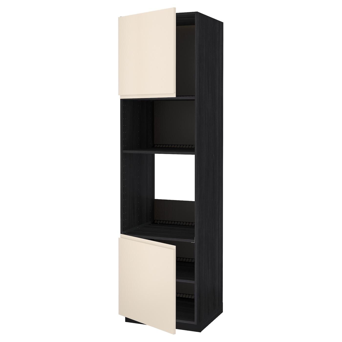 METOD, HS für Ofen/Mikro m 2 Türen/Böden, schwarz 091.150.49