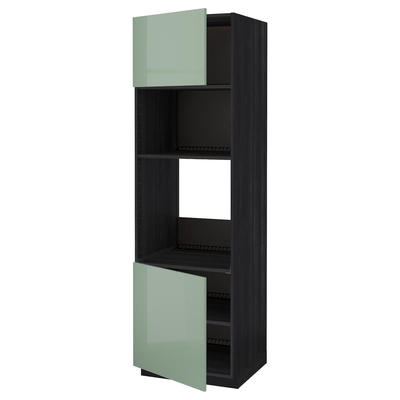 METOD, HS für Ofen/Mikro m 2 Türen/Böden, schwarz 291.448.90