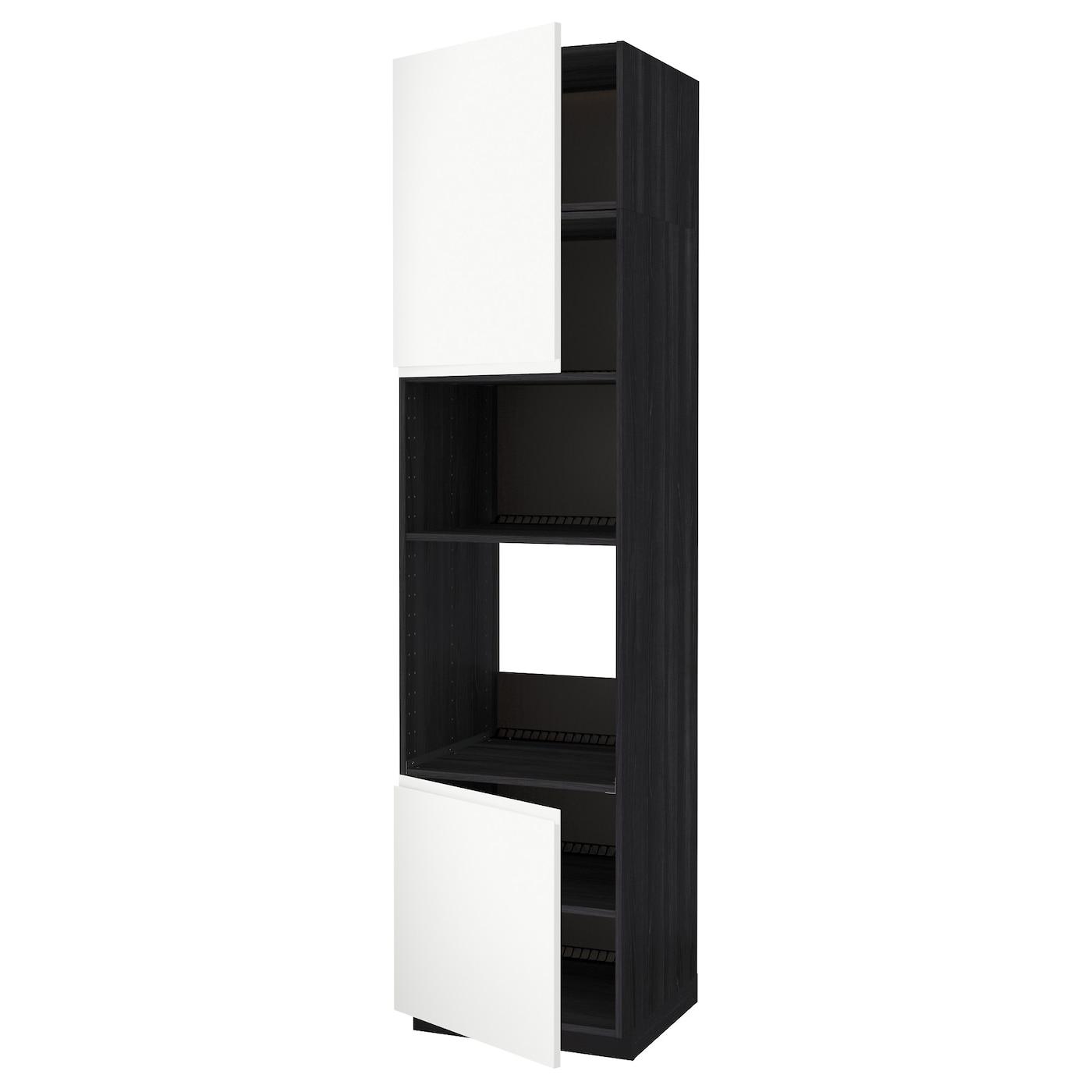 METOD, HS für Ofen/Mikro m 2 Türen/Böden, schwarz 091.660.05