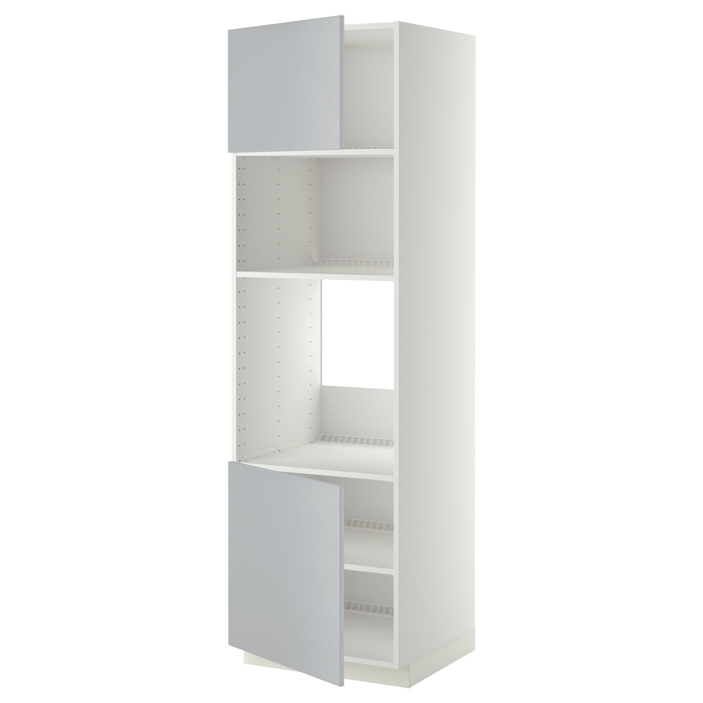 METOD, HS für Ofen/Mikro m 2 Türen/Böden, weiß 690.278.94