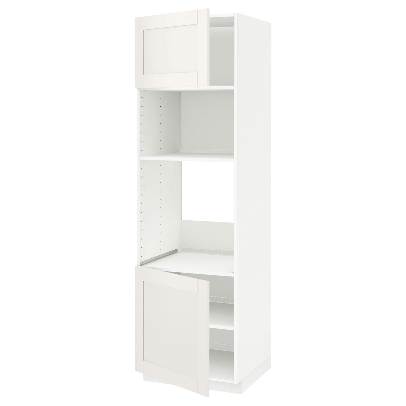 METOD, HS für Ofen/Mikro m 2 Türen/Böden, weiß 290.641.95