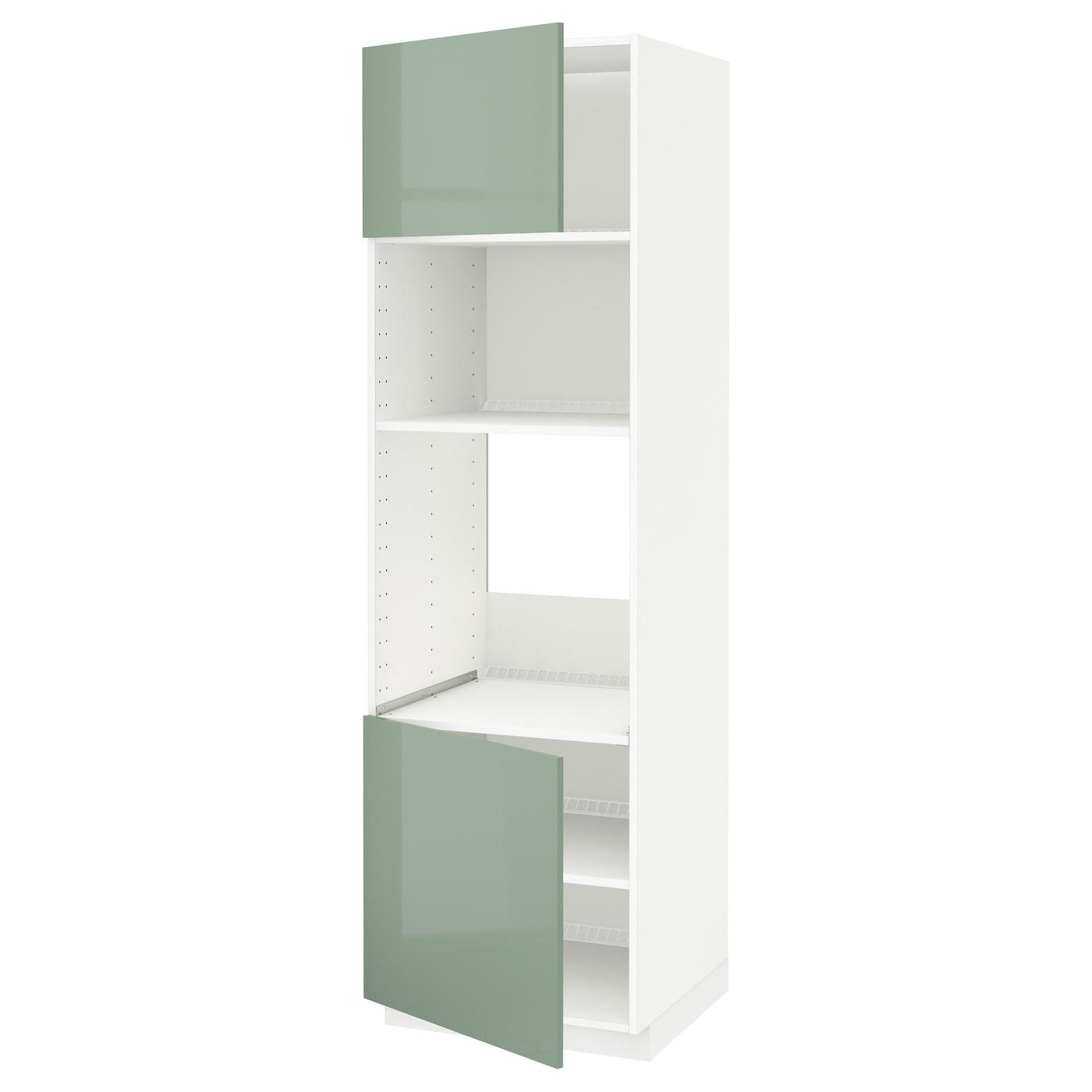 METOD, HS für Ofen/Mikro m 2 Türen/Böden, weiß 091.448.91