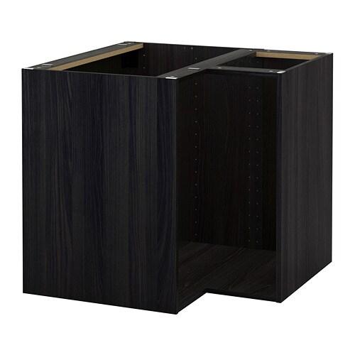 Metod korpus eckunterschrank holzeffekt schwarz ikea for Ikea mobile angolare