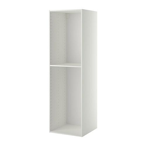 Küchenschrank weiß ikea  METOD Korpus Hochschrank - weiß, 60x60x200 cm - IKEA