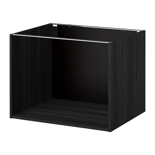 metod korpus unterschrank holzeffekt schwarz 80x60x60 cm ikea. Black Bedroom Furniture Sets. Home Design Ideas