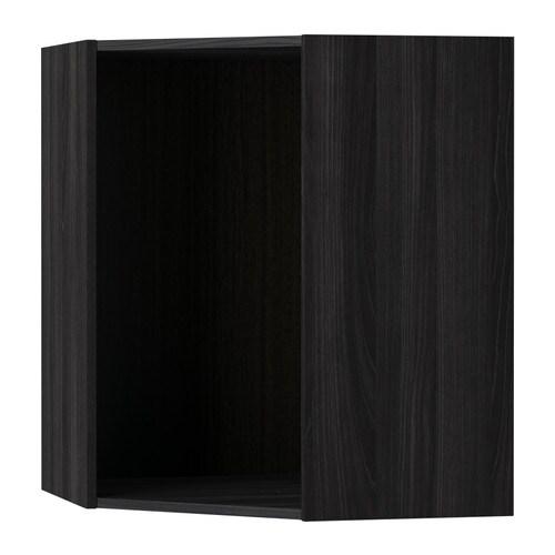 metod korpus wandeckschrank holzeffekt schwarz 68x68x80 cm ikea. Black Bedroom Furniture Sets. Home Design Ideas