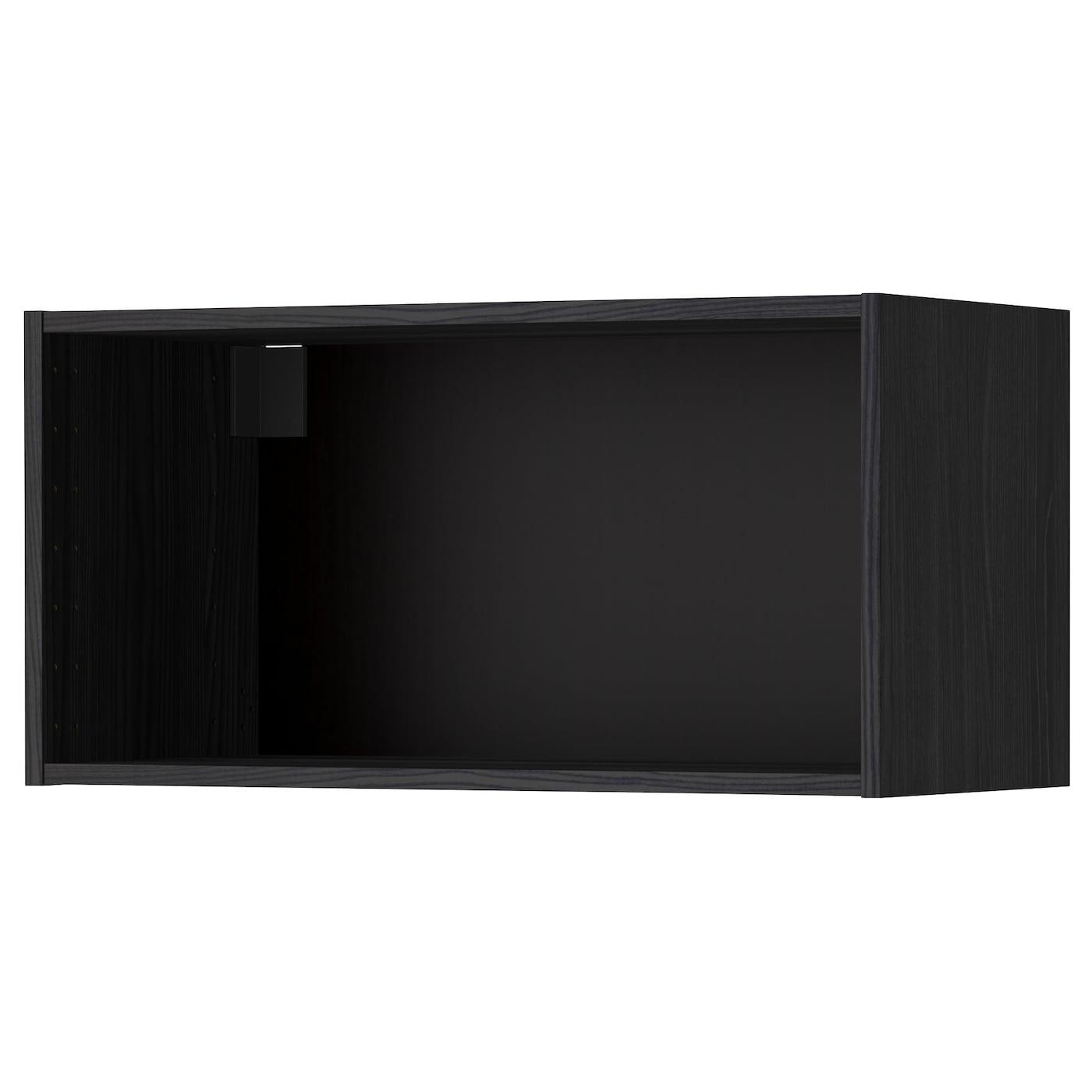 METOD, Korpus Wandschrank, Holzeffekt schwarz, schwarz 002.055.44