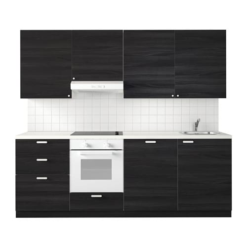 metod k che tingsryd holzeffekt schwarz ikea. Black Bedroom Furniture Sets. Home Design Ideas