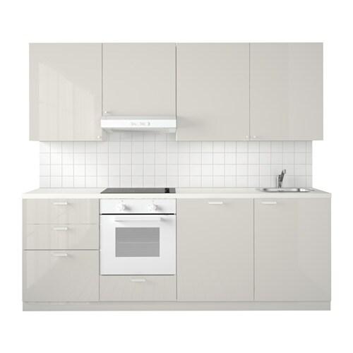 Ikea küchen metod grau  METOD Küche - Ringhult Hochglanz hellgrau - IKEA