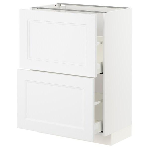 METOD / MAXIMERA Unterschrank mit 2 Schubladen - weiß ...