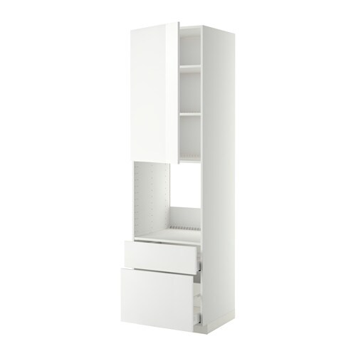 metod maximera hochschrank f backofen t r 2schubl wei. Black Bedroom Furniture Sets. Home Design Ideas