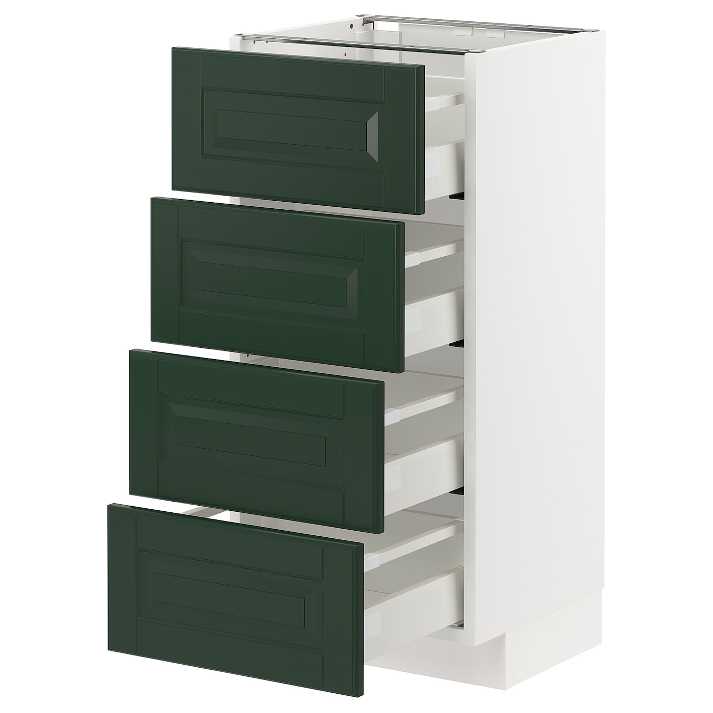 Ikea Metod Maximera Unterschr 4 Fronten 4 Schubladen Weiss Bodbyn Dunkelgrun 40x37 Cm Moebel Suchmaschine Ladendirekt De