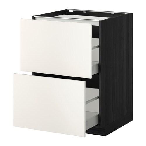 metod maximera unterschr f kochf 2 fronten 2sch holzeffekt schwarz veddinge grau 60x60. Black Bedroom Furniture Sets. Home Design Ideas