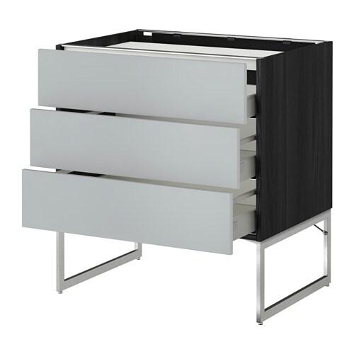 metod maximera unterschr f kochf 3 fronten 3sch holzeffekt schwarz veddinge grau 80x60x60. Black Bedroom Furniture Sets. Home Design Ideas