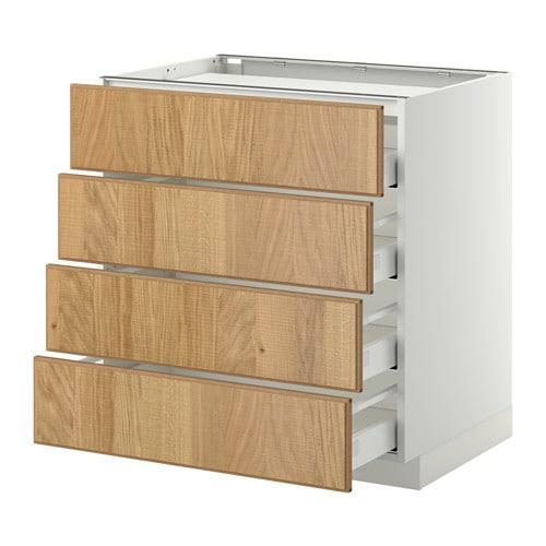 metod maximera unterschr f kochf 4 fronten 4 sch wei hyttan eichenfurnier 80x60 cm ikea. Black Bedroom Furniture Sets. Home Design Ideas