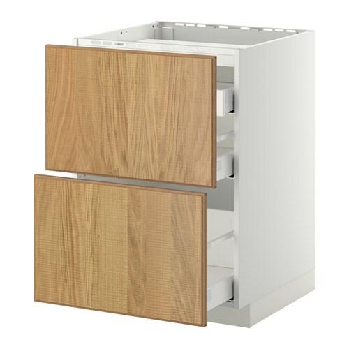 metod maximera unterschr f kochf 2 fronten 3 sch wei hyttan eichenfurnier 60x60 cm ikea. Black Bedroom Furniture Sets. Home Design Ideas
