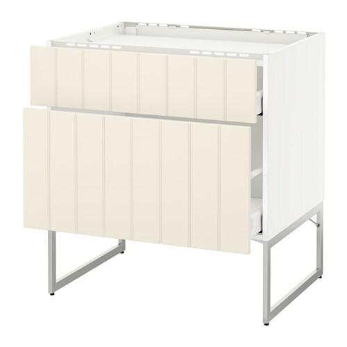 metod maximera unterschr f kochf 2 fronten 2sch wei hittarp elfenbeinwei 80x60x60 cm. Black Bedroom Furniture Sets. Home Design Ideas