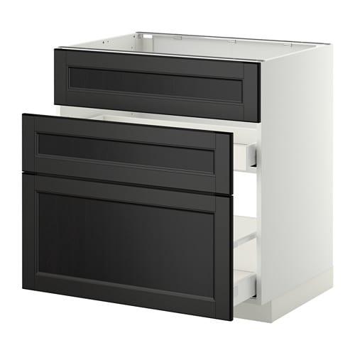 metod maximera unterschr f sp le 3 fronten 2sch wei laxarby schwarzbraun 80x60 cm ikea. Black Bedroom Furniture Sets. Home Design Ideas