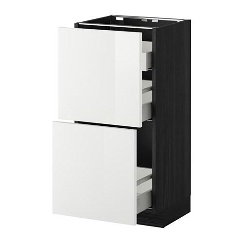 metod maximera unterschr 2 fronten 1 ni 2 schub holzeffekt schwarz ringhult hochglanz wei. Black Bedroom Furniture Sets. Home Design Ideas