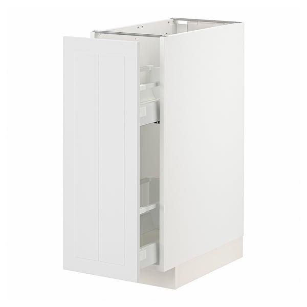 METOD / MAXIMERA Unterschrank+ausziehb. Einrichtg., weiß/Stensund weiß, 30x60 cm