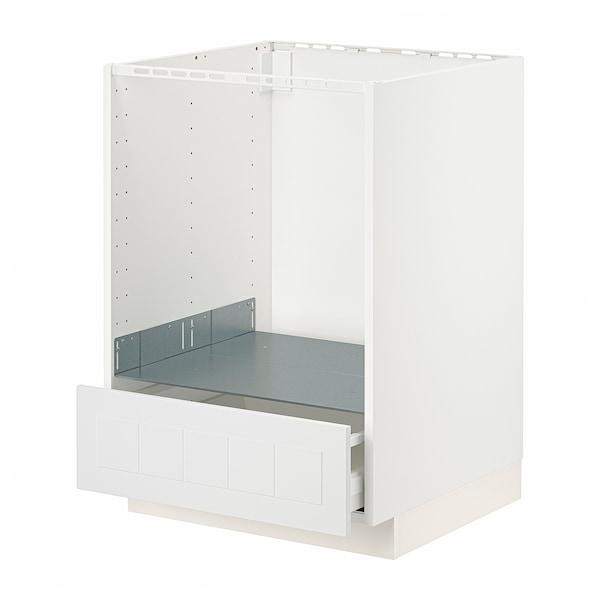 METOD / MAXIMERA Unterschrank für Ofen mit Schubl, weiß/Stensund weiß, 60x60 cm