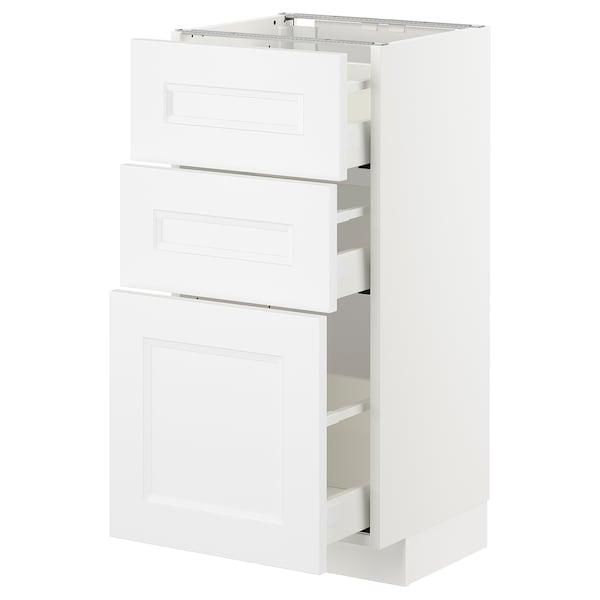 METOD / MAXIMERA Unterschrank mit 3 Schubladen, weiß/Axstad matt weiß, 40x37 cm