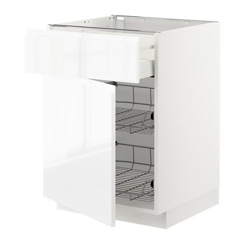 metod maximera unterschrank mit drahtkorb t r wei voxtorp hochglanz wei 60x60 cm ikea. Black Bedroom Furniture Sets. Home Design Ideas