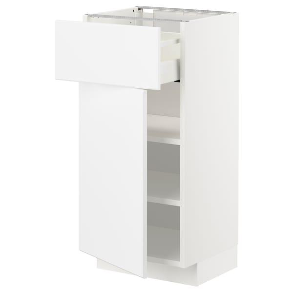 METOD / MAXIMERA Unterschrank mit Schublade/Tür, weiß/Kungsbacka matt weiß, 40x37 cm