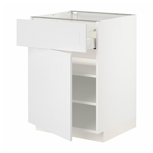 METOD / MAXIMERA Unterschrank mit Schublade/Tür, weiß/Stensund weiß, 60x60 cm