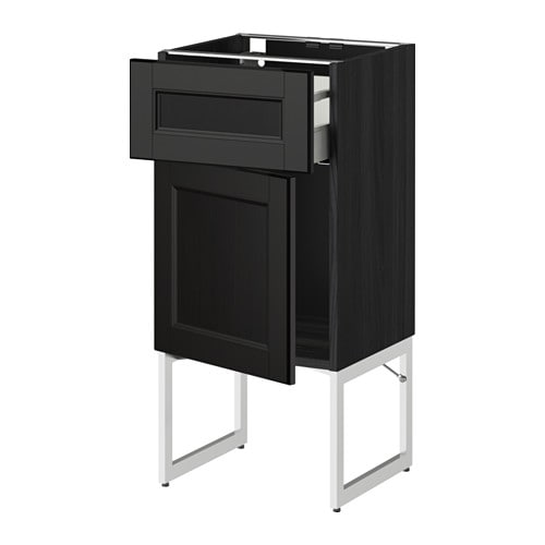 metod maximera unterschrank mit schublade t r holzeffekt schwarz laxarby schwarzbraun. Black Bedroom Furniture Sets. Home Design Ideas