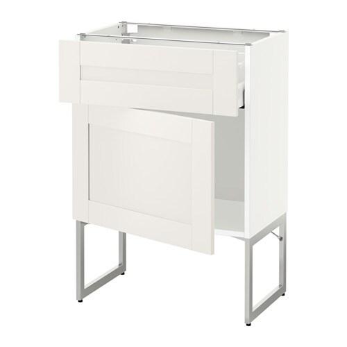 metod maximera unterschrank mit schublade t r wei s vedal wei 60x37x60 cm ikea. Black Bedroom Furniture Sets. Home Design Ideas