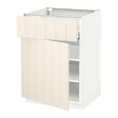 metod maximera unterschrank mit schublade t r wei hittarp elfenbeinwei 60x60 cm ikea. Black Bedroom Furniture Sets. Home Design Ideas