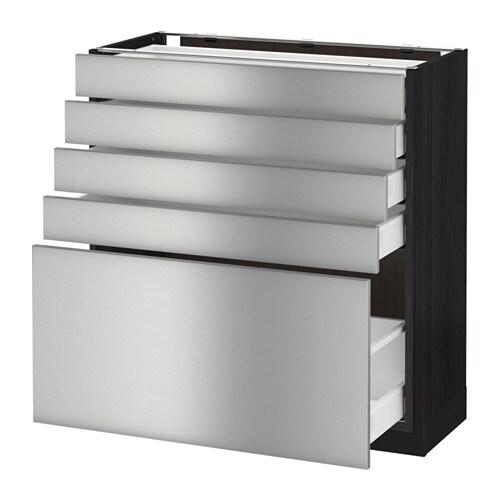 Vitrine Ikea Detolf Occasion ~ METOD  MAXIMERA Unterschrank mit 5 Schubladen  Grevsta Edelstahl