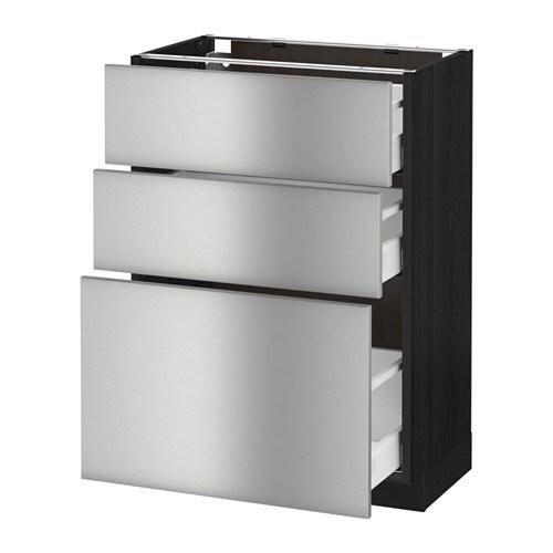 Ikea Unterschrank Edelstahl ~ METOD  MAXIMERA Unterschrank mit 3 Schubladen  Grevsta Edelstahl