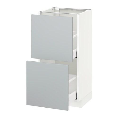 metod maximera unterschrank mit 2 schubladen wei veddinge grau 40x37 cm ikea. Black Bedroom Furniture Sets. Home Design Ideas