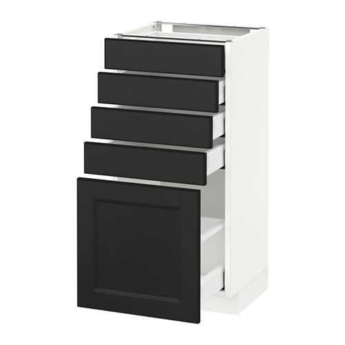 metod maximera unterschrank mit 5 schubladen wei 40x37 cm ikea. Black Bedroom Furniture Sets. Home Design Ideas
