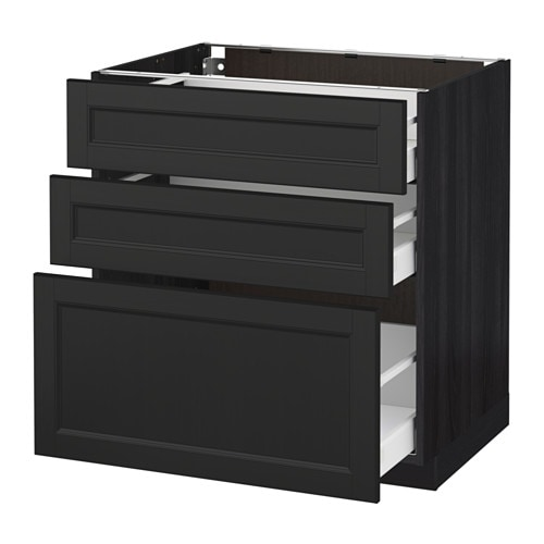 metod maximera unterschrank mit 3 schubladen ikea. Black Bedroom Furniture Sets. Home Design Ideas