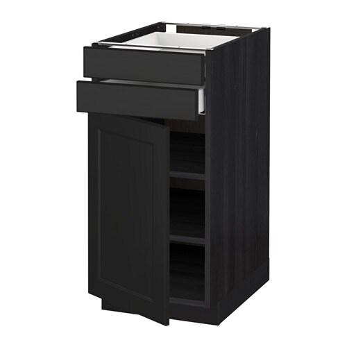 metod maximera unterschrank mit t r 2 schubladen holzeffekt schwarz laxarby schwarzbraun. Black Bedroom Furniture Sets. Home Design Ideas