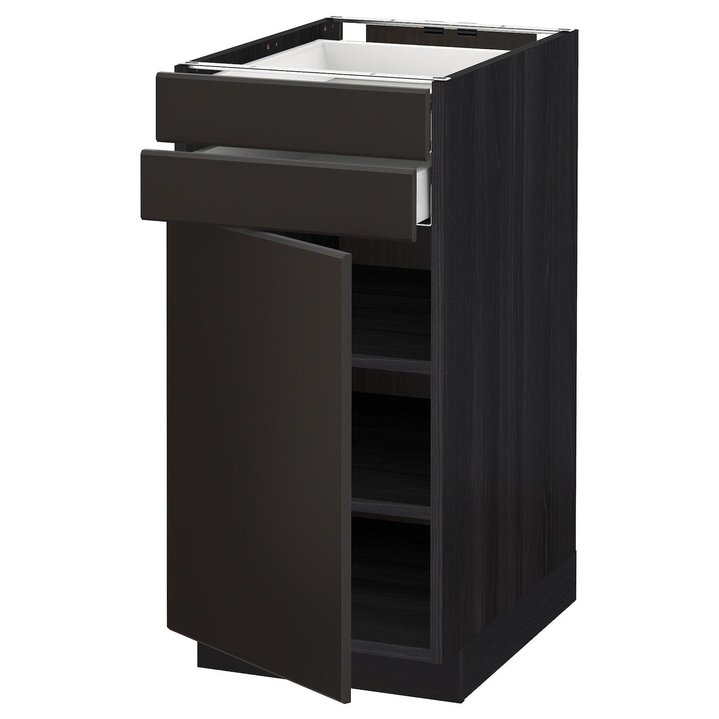 METOD / MAXIMERA, Unterschrank mit Tür+2 Schubladen, schwarz 192.716.28