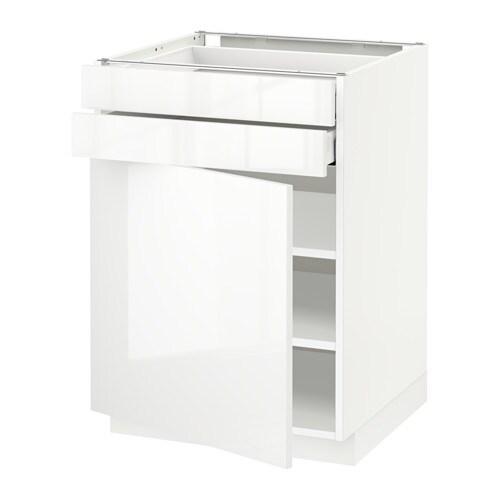 metod maximera unterschrank mit t r 2 schubladen wei ringhult hochglanz wei 60x60 cm ikea. Black Bedroom Furniture Sets. Home Design Ideas