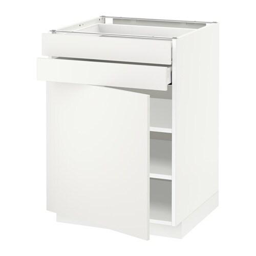 metod maximera unterschrank mit t r 2 schubladen wei h ggeby wei 60x60 cm ikea. Black Bedroom Furniture Sets. Home Design Ideas