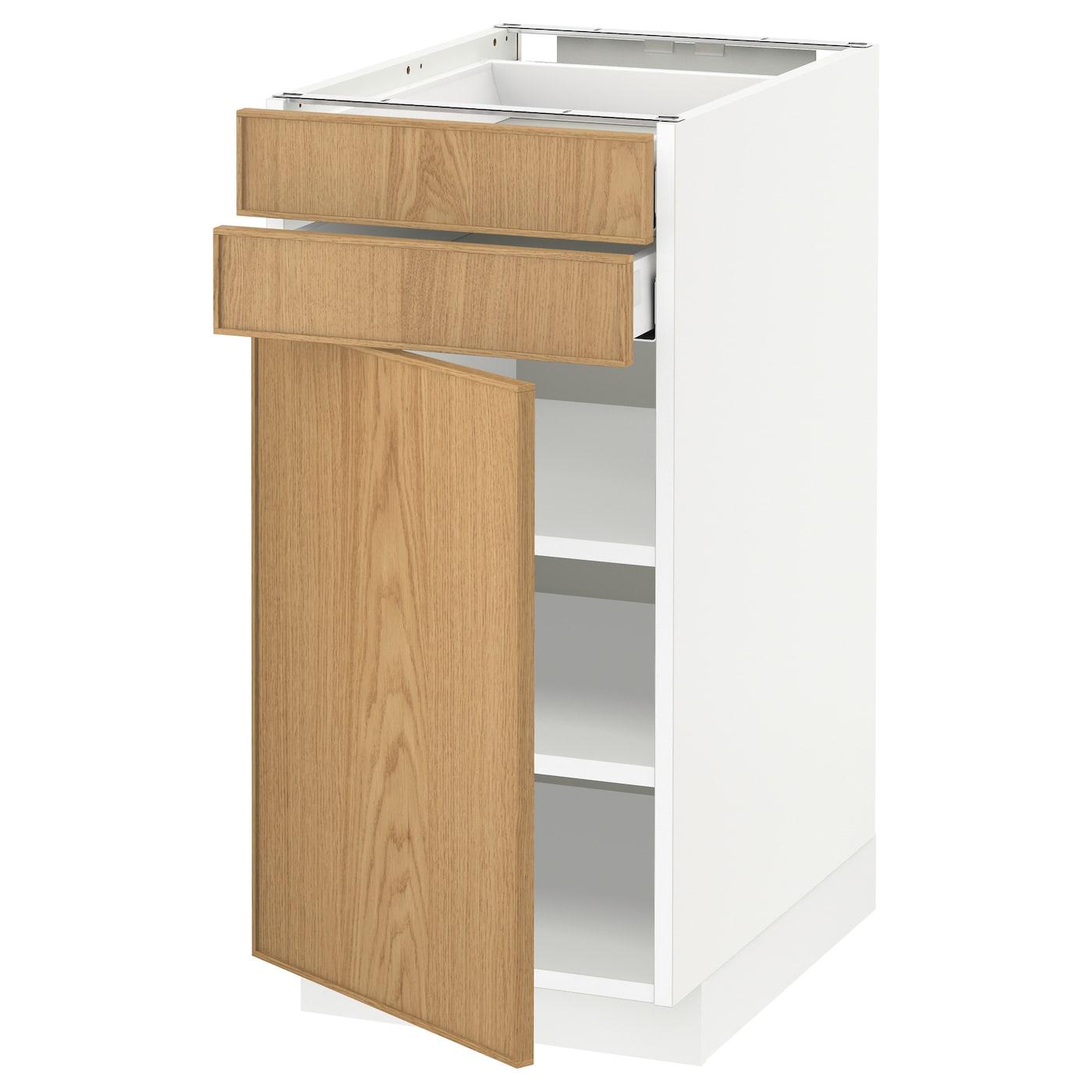 METOD / MAXIMERA, Unterschrank mit Tür+2 Schubladen, weiß 592.716.26