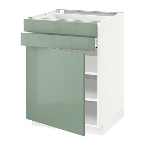 metod maximera unterschrank mit t r 2 schubladen wei kallarp hochglanz hellgr n 60x60 cm. Black Bedroom Furniture Sets. Home Design Ideas