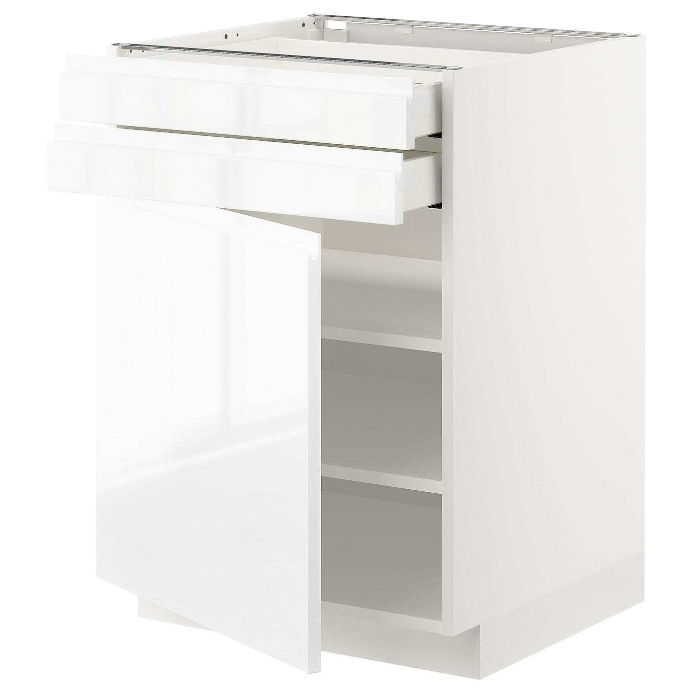 METOD / MAXIMERA, Unterschrank mit Tür+2 Schubladen, weiß 192.716.52