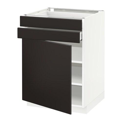 metod maximera unterschrank mit t r 2 schubladen wei kungsbacka anthrazit 60x60 cm ikea. Black Bedroom Furniture Sets. Home Design Ideas