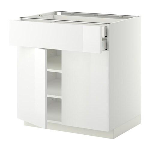 metod maximera unterschrank mit 2 t ren 2 schubl wei ringhult hochglanz wei 80x60 cm. Black Bedroom Furniture Sets. Home Design Ideas