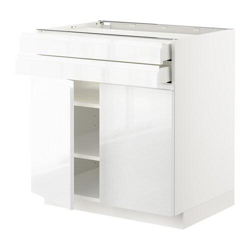 metod maximera unterschrank mit 2 t ren 2 schubl wei voxtorp hochglanz wei 80x60 cm ikea. Black Bedroom Furniture Sets. Home Design Ideas